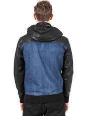 Urban /// Hooded Denim Leather Jacket