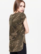 Urban /// Ladies Camo Back Shaped Tee