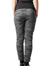 Urban /// Ladies Fitted Melange Zip Sweatpants