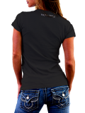 40CRWNS /// STITCH WOMEN SHIRT /// BLACK