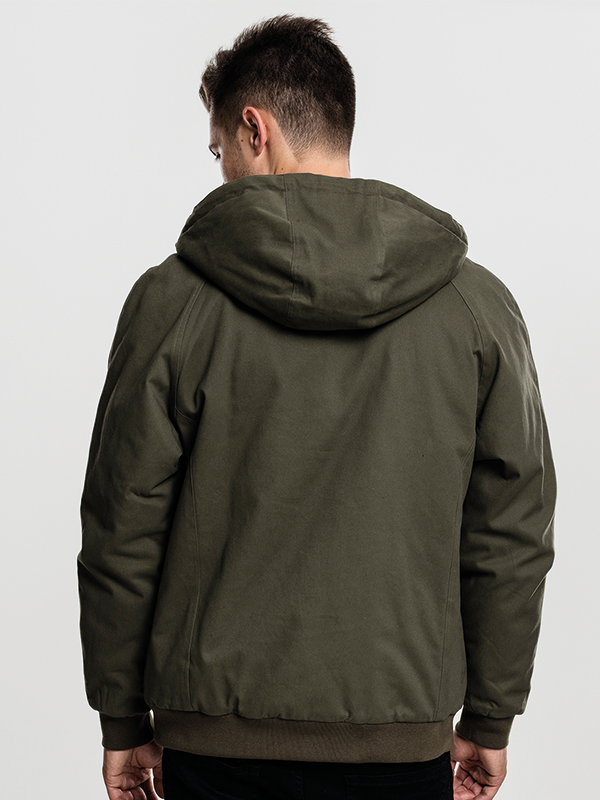 Urban /// Hooded Cotton Zip Jacket
