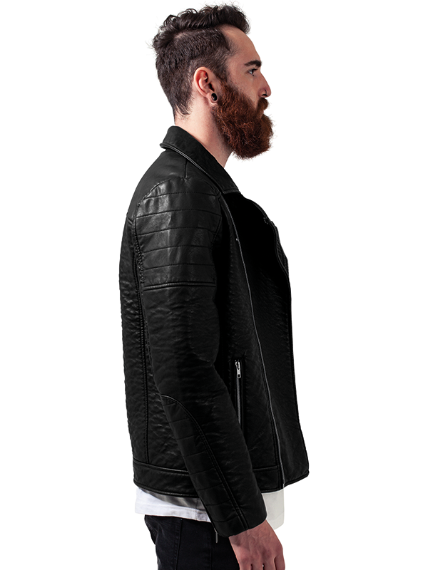 Urban ///   Leather Imitation Biker Jacket