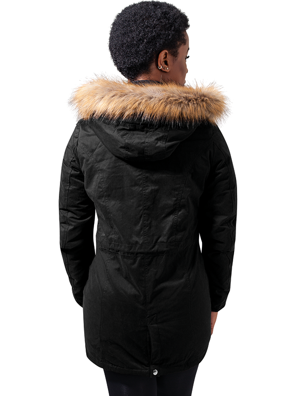 Urban /// Ladies Sherpa Lined Peached Parka