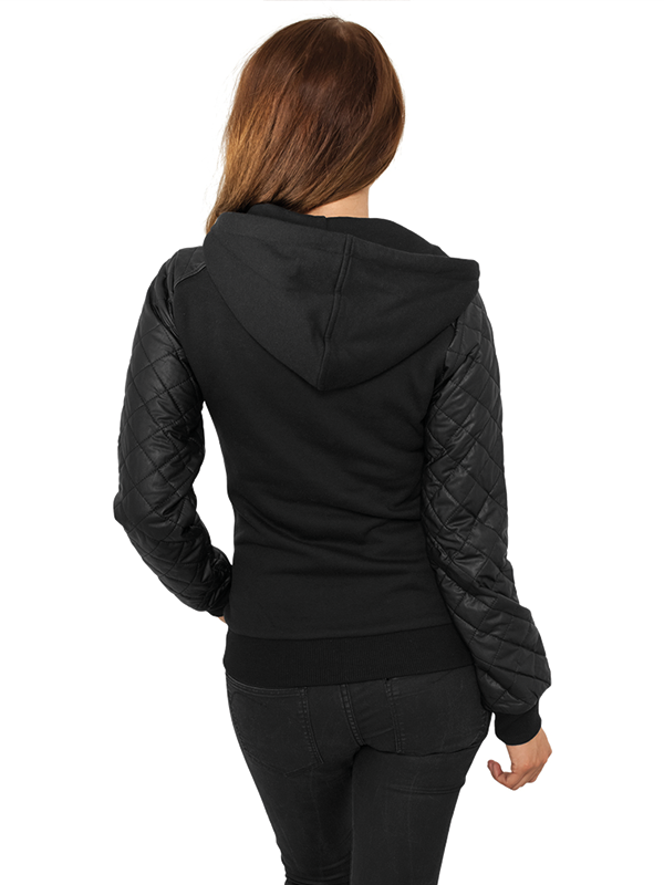 Urban /// Ladies Leather Imitation Zip Hoody