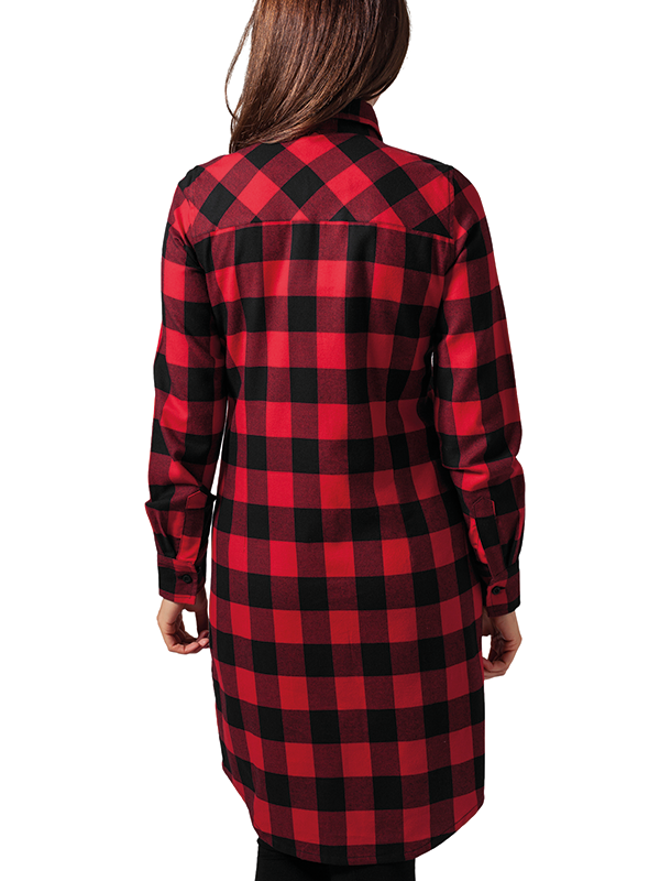Urban /// Ladies Checked Flanell Shirt Dress